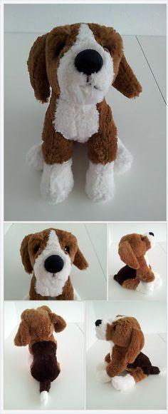 Ikea Gosig Valp Puppy Dog Plush Stuffed Animal Baby Toy Tan Brown Beagle http://www.bonanza.com/