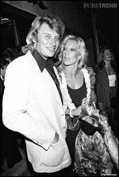 Johnny Hallyday et la chanteuse Sylvie Vartan, une relation qui ...