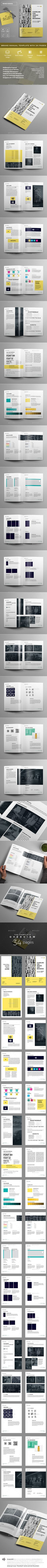 Exclusive Brand Manual — InDesign INDD #infographics #minimal • Download ➝ https://graphicriver.net/item/exclusive-brand-manual/19909855?ref=pxcr