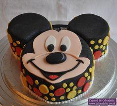 One layer Mickey cake