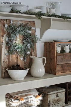 I love the little cabinet on right in this FARMHOUSE 5540 picture. maybe try making one?