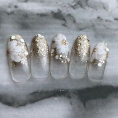 Ideas wedding manicure gold nailart for 2019 Gold Manicure, Wedding Manicure, Wedding Nails Design, Bridal Nails, Gold Wedding Nails, Weding Nails, Bling Wedding, Wedding White, Green Wedding
