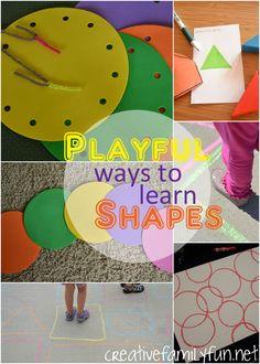 Formas Divertidas párrafo Aprender Formas Creativas ~ Family Fun
