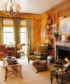 The Enchanted Home: INTERVIEW AND GIVEAWAY: FAIRFAX AND SAMMONS, ARCHITECTS EXTRAORDINAIRE ||| oooohhhh, that paneling is PHENOMENAL!! :)  -db.