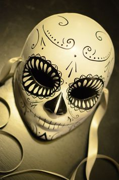 Death Mask Day of the Dead Deadpool Mask Dia De by HikariDesign, $125.00