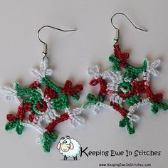 Just in time for #Christmas our Very Merry #Snowflake #earrings