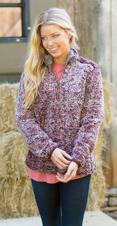 The wait is finally over - introducing the NEW Heather Sherpa Pullover!