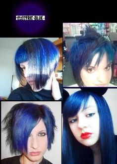 22829bc0dc1 Electric Blue Semi Permanent Hair Dye By Special Effects Small Face  Hairstyles