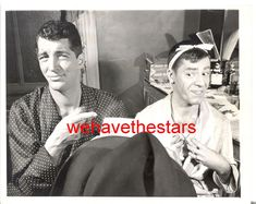 Vintage Dean Martin & Jerry Lewis CANDID BACKSTAGE CHICAGO '50 PRESS Portrait | eBay