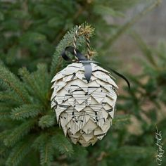 s you might rethink your tree when you see these breathtaking ornaments, christmas decorations, seasonal holiday decor, This acorn shaped one with music notes