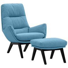 Sessel mit Hocker Türkis Jetzt bestellen unter: http://www.woonio.de/produkt/sessel-mit-hocker-tuerkis-10/