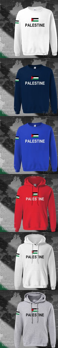 State of Palestine Palestinian hoodies men sweatshirt polo sweat new hip hop streetwear flag nation team country 2017 PS PSE