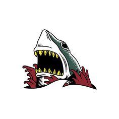 Buy Web by Rawpixel on PhotoDune. Illustration of Comic style Hai Illustration, Creative Illustration, Free Illustrations, Tattoo Religion, Tatuagem Old Scholl, Arte Punk, Trap Art, Traditional Tattoo Art, Shark Tattoos