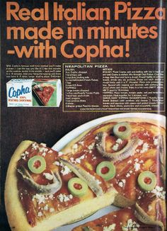 1968, I assure you real pizza does not contain Copha. It does not contain instant mashed potato either.