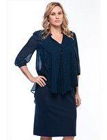 Moda Ateşi Lacivert Elbise 1414045-1