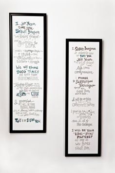Illustrated wedding vows mr-and-mrs  maybe for our 10 year next year we'll write our own vows!
