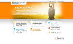 Desarrollo de un site específico para promocionar el lanzamiento de un nuevo producto.  http://www.solquimia.com/forane/