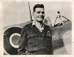 """WWII British RAF """"Ace"""" Pilot Johnnie Johnson Downs 32nd Plane"""