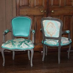 Have been thinking about re-doing our dining chairs with three fabrics