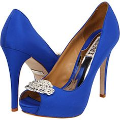 Badgley Mischka - Goodie.. My wedding shoes. This is the perfect something new and blue <3