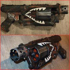 Cosplay Weapons, Cosplay Armor, Cosplay Diy, Best Cosplay, Modified Nerf Guns, Cool Nerf Guns, Nerf Mod, Steampunk Weapons, Gun Art