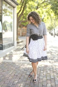 Black and white print mixing- gingham and sequins