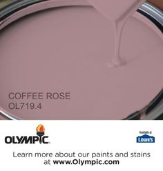 COFFEE ROSE OL719.4 is a part of the purples collection by Olympic® Paint.