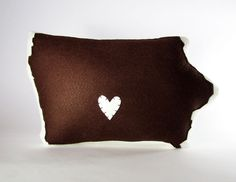 Customizable Iowa State Pillow by lovecalifornia on Etsy, $68.00 (I want an Illinois one!)