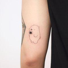 Sibling Tattoos, Bear Tattoos, Couple Tattoos, Tatoos, Sweet Tattoos, Mini Tattoos, Small Tattoos, Minimalist Cat Tattoo, Little Flower Tattoos