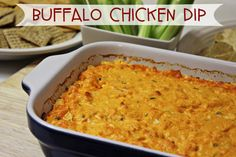 Love buffalo wings? How about blue cheese? BUFFALO CHICKEN DIP is a mix of both creating a delicious dip for tailgating, game day, or parties