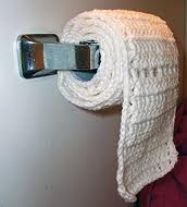 Toilet Paper Crochet - I was wondering when Pinterest would reach its idea limit!