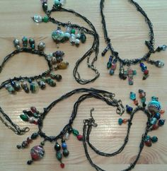 Locally crafted by petal plum glass bead & charm necklaces each. Charm Necklaces, Plum, Glass Beads, Beaded Necklace, Charmed, Jewellery, Crafts, Beaded Collar, Jewels