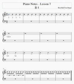Rosa Enid Cruz Roque: Piano Notes - Lesson 7 - B4