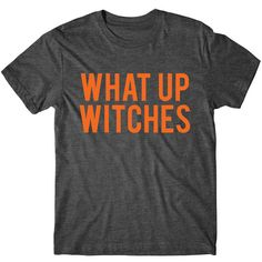 What Up Witches, Halloween Shirt, Womens Graphic Tee, Womens Tshirt,... (1,000 INR) ❤ liked on Polyvore featuring tops, t-shirts, fluorescent t shirts, metallic shirt, tee-shirt, neon t shirts and silver metallic shirt