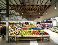 Setting new benchmarks for shopping centre and supermarket designs in Australia Commercial Design, Commercial Interiors, Fruit Shop, Store Layout, Food Retail, Retail Store Design, Shop Interior Design, Design Shop, Showcase Design