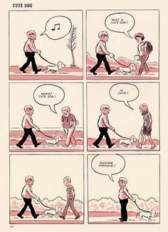 """Cute Dog"" from Wilson by Daniel Clowes"
