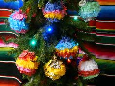 Mini Pinata Advent Calendar - They just look like pinatas. There is a flap where you put the candy in and shake it out, so they can be used again and again.