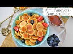 Mini Pancakes sau Pancakes cereal este una dintre retetele pe care TREBUIE sa o incerci! Sunt delicioase si perfecte pentru cei mici! Vezi reteta video! Mini Pancakes, Fruit Salad, Cereal, Oatmeal, Breakfast, Youtube, Food, Kitchen, The Oatmeal