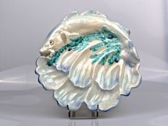 EXCEPTIONAL and RARE FRENCH MAJOLICA OYSTER PLATE to the end of the 19th century picclick.com