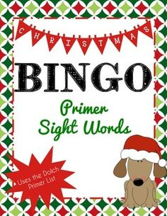 Christmas Bingo with Dolch Sight Words (Primary). Students enjoy practicing the Dolch sight words while playing this adorable Christmas bingo game. Students strengthen their listening skills while learning to read.