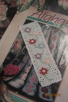 "Crochet PATTERN Bookmark Climbing Flowers -""Hard copy Not PDF""- FREE SHIPPING"