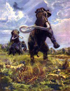 Zdenek Burian   A Book of Mammoths 1963