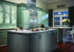 The Barcelona & Valencia cabinetry collections from Elkay- Design-Craft offer a roomy interior, perfect for storing kitchen accoutrements. T...