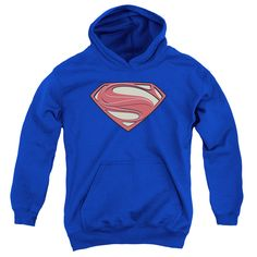 Superman Man of Steel: New Solid Shield Youth Hoodie