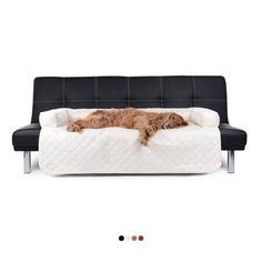 Der schöne und elegante #Sofaüberwurf besticht allem voran durch das trendige Veloursleder ähnliche Obermaterial. Nicht nur bildet er eine weiche und äußerst anschmiegsame Oberfläche, die zum Kuscheln einlädt; seine edle Optik macht die Relax-Unterlage Ihres Hundes auch zu einem echten Hingucker in Ihren Wohnräumen. #sofaschutz #hunde
