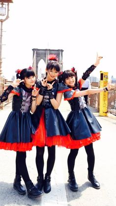 "A metal group, BABY METAL. They look lovely in ""danger"""