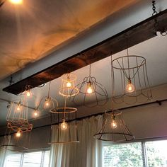 """71 Likes, 7 Comments - Donna via Funky Junk Interiors (@funkyjunkinteriors) on Instagram: """"Coolest light at Spruce Collective in Abbotsford, BC Canada. What a gorgeous store!"""""""