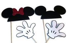 Photo Booth Props - Mickey and Minnie Mouse