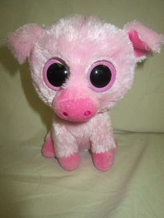 """Ty Beanie Boo Boos Corky the Pig 6"""" Retired  #Ty"""