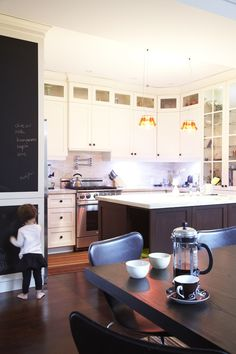 Kitchen chalkboard idea